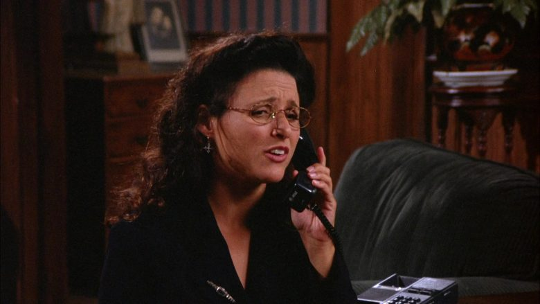AT&T Black Phone Used by Julia Louis-Dreyfus as Elaine Benes in Seinfeld Season 6 Episode 3