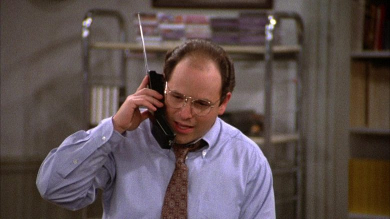 AT&T Telephone Held by Jason Alexander as George Costanza in Seinfeld Season 2 Episode 6 (1)