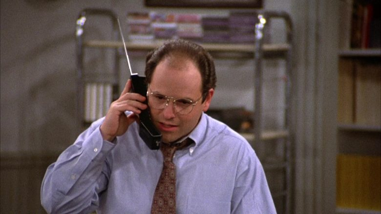 AT&T Telephone Held by Jason Alexander as George Costanza in Seinfeld Season 2 Episode 6 (2)
