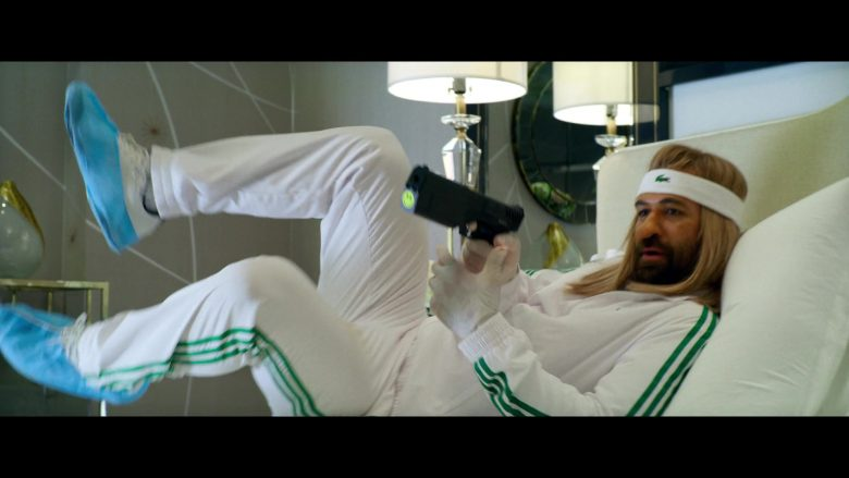 Adidas White Tracksuit and Lacoste Headband Worn by Manuel Garcia-Rulfo in 6 Underground (1)