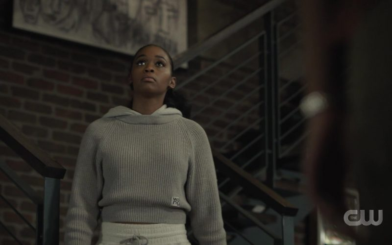 Alexander Wang Cropped Sweater For Women in Black Lightning Season 3 Episode 9 (1)