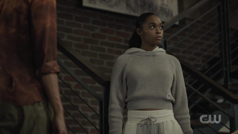 Alexander Wang Cropped Sweater For Women in Black Lightning Season 3 Episode 9 (2)