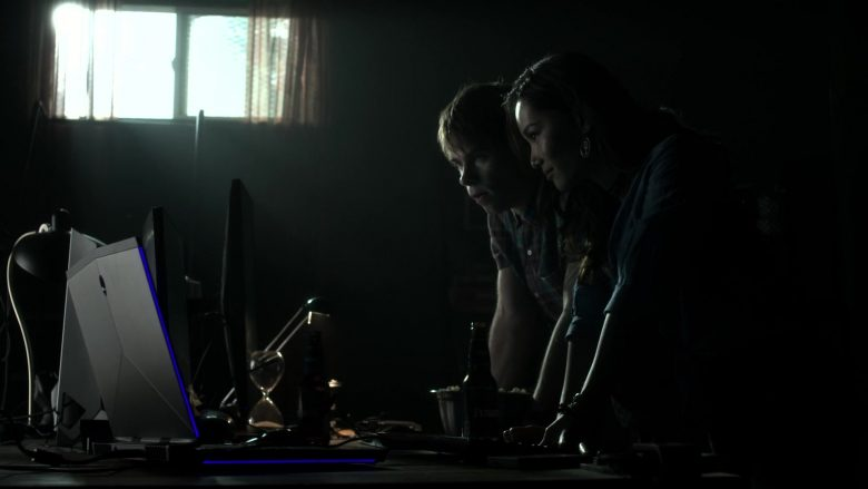 Alienware Laptop and Monitor Used by Teddy Moynihan as Jergen Weber and Jacky Lai as Kaylee Vo in V Wars (2)