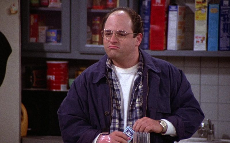 Alka-Seltzer Held by Jason Alexander as George Costanza in Seinfeld Season 2 Episode 4 (1)