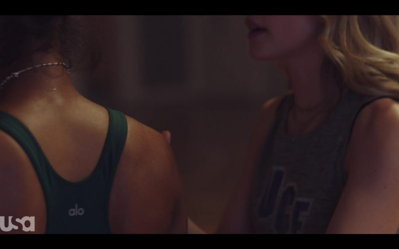 Alo Sports Bra Worn by Herizen Guardiola as Addy Hanlon in Dare Me Season 1 Episode 1 Coup D'État