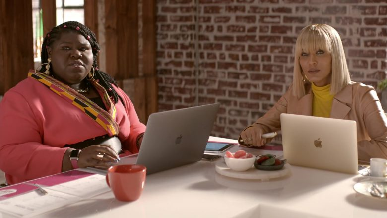 Apple MacBook Laptop Used by Nicole Ari Parker as Giselle Sims-Barker in Empire Season 6 Episode 10 Cold Cold Man (1)