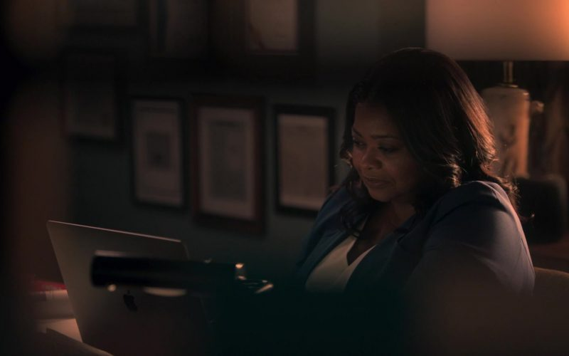 Apple MacBook Laptop Used by Octavia Spencer as Poppy Parnell in Truth Be Told Season 1 Episode 6 No Buried, Planted