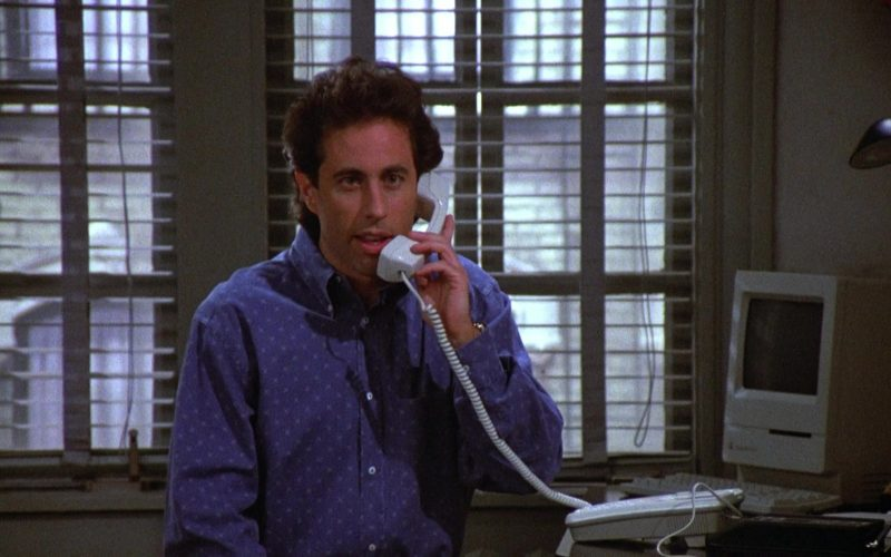 Apple Macintosh Computer in Seinfeld Season 4 Episode 17 The Outing (1)