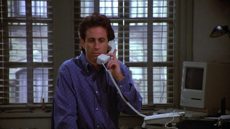 Apple Macintosh Computer in Seinfeld Season 4 Episode 17 The Outing (2)