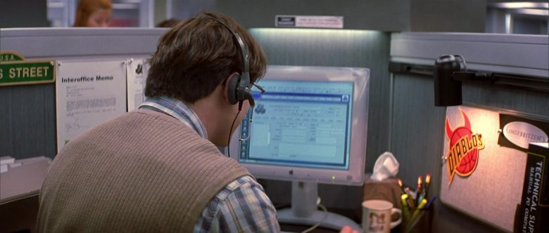 Apple Monitor Used by Brendan Fraser in Bedazzled (1)