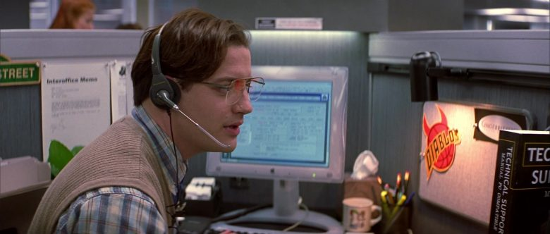 Apple Monitor Used by Brendan Fraser in Bedazzled (2)