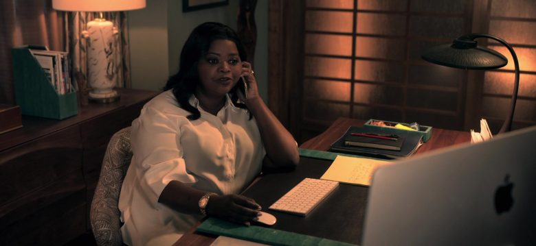 Apple iMac Computer Used by Octavia Spencer as Poppy Scoville-Parnell in Truth Be Told Season 1 Episode 3 (2)