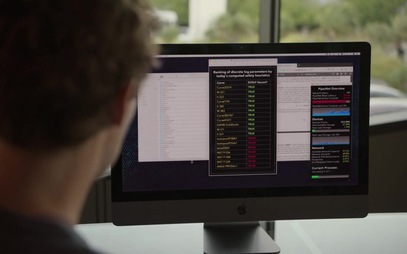 Apple iMac Computer Used by Thomas Middleditch as Richard Hendricks in Silicon Valley Season 6 Episode 1