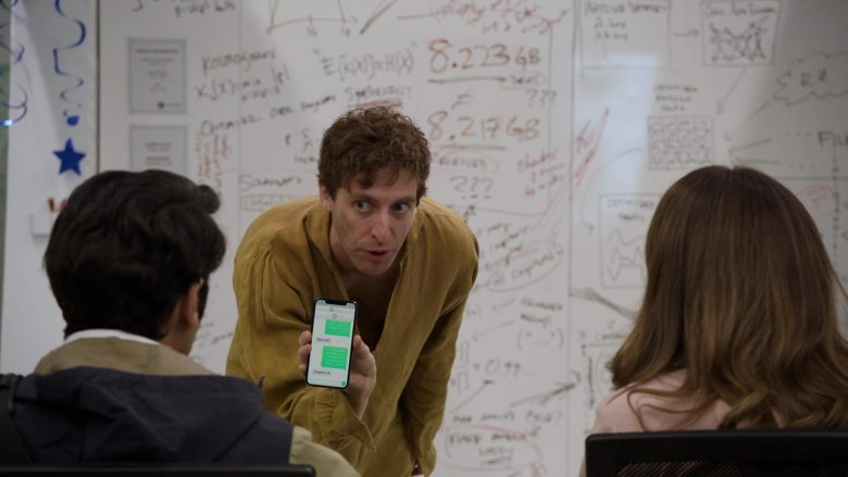Apple iPhone Held by Thomas Middleditch as Richard Hendricks in Silicon Valley Season 6 Episode 1 (1)