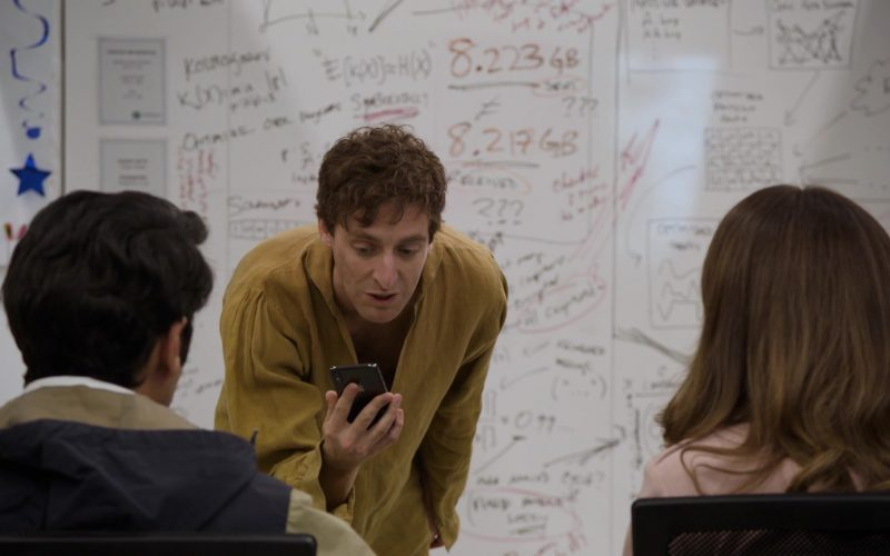Apple iPhone Held by Thomas Middleditch as Richard Hendricks in Silicon Valley Season 6 Episode 1 (2)