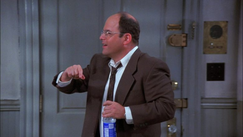 Aquafina Water Enjoyed by Jason Alexander as George Costanza in Seinfeld Season 8 Episode 1 (2)
