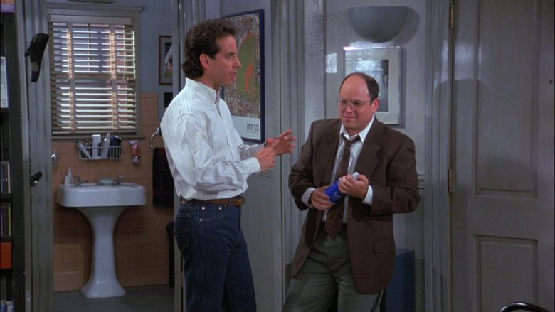 Aquafina Water Enjoyed by Jason Alexander as George Costanza in Seinfeld Season 8 Episode 1 (3)