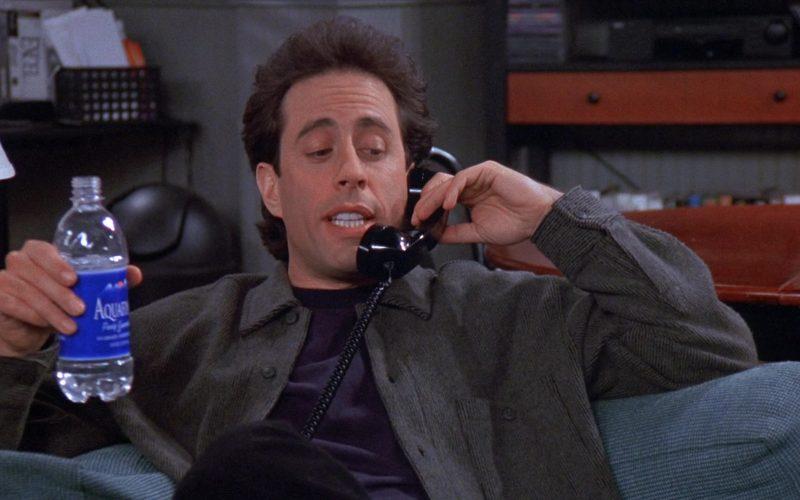 Aquafina Water Enjoyed by Jerry Seinfeld in Seinfeld Season 8 Episode 18 The Nap