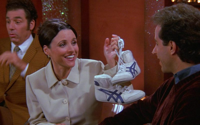 Asics Shoes Held by Julia Louis-Dreyfus as Elaine Benes in Seinfeld Season 9 Episode 6 The Merv Griffin Show (1)