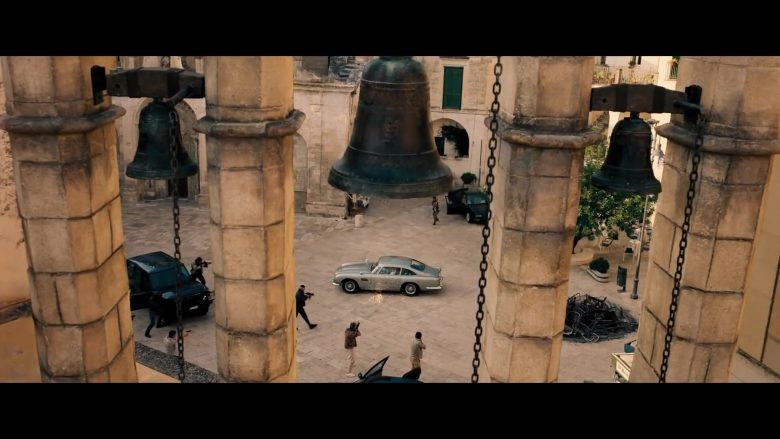 Aston Martin DB5 Retro Car Used by Daniel Craig as James Bond in No Time to Die (2020) - Movie Product Placement