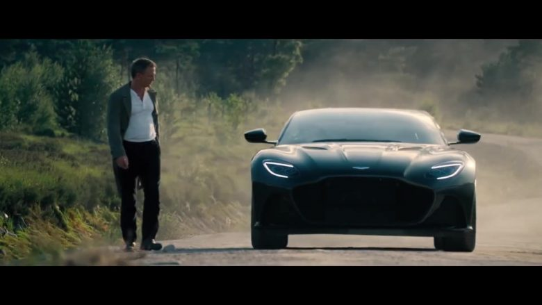 Aston Martin DBS Superleggera Sports Car in No Time to Die (2020) - Movie Product Placement