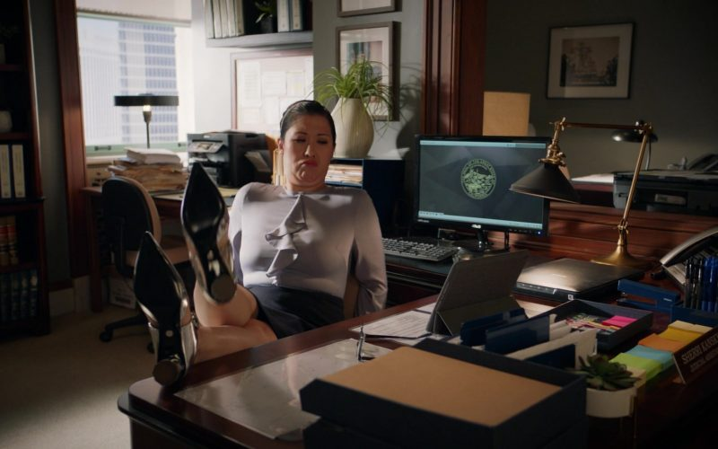 Asus Monitor Used by Ruthie Ann Miles as Sherri Kansky in All Rise Season 1 Episode 10 (1)