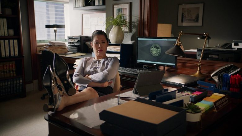 Asus Monitor Used by Ruthie Ann Miles as Sherri Kansky in All Rise Season 1 Episode 10 (2)