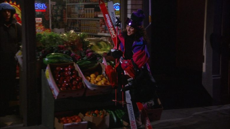 Atomic Arc Skis Held by Julia Louis-Dreyfus as Elaine Benes in Seinfeld Season 6 Episode 17 (1)
