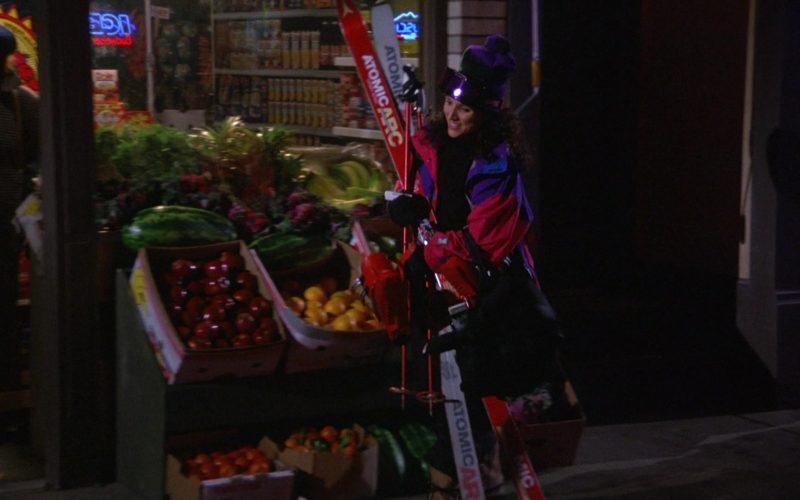 Atomic Arc Skis Held by Julia Louis-Dreyfus as Elaine Benes in Seinfeld Season 6 Episode 17 (1)