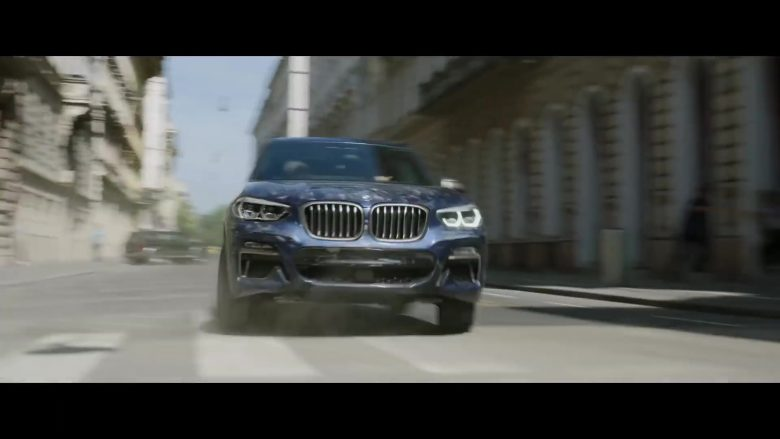 BMW Blue Car in Black Widow (2020)