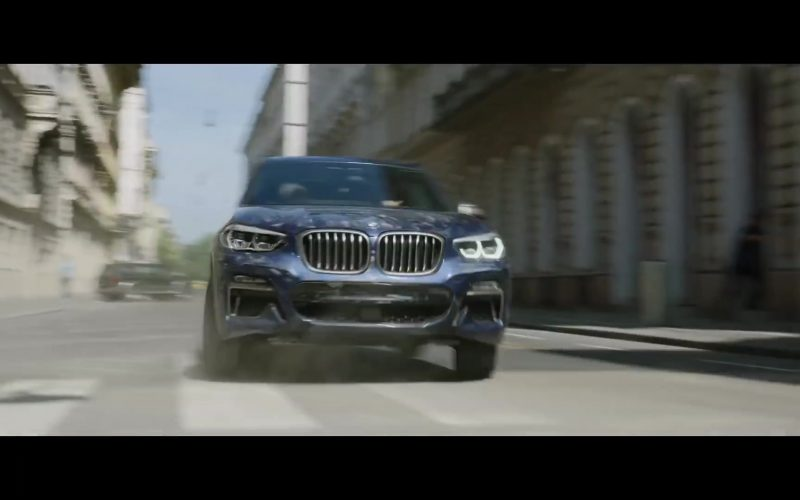 BMW Blue Car in Black Widow (2020)