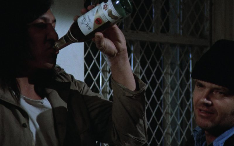 Bacardi Rum Enjoyed by Will Sampson as Chief Bromden in One Flew Over the Cuckoo's Nest