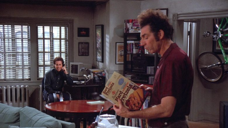 Bachman Hard Pretzels Enjoyed by Michael Richards as Cosmo Kramer in Seinfeld Season 7 Episode 13 (1)