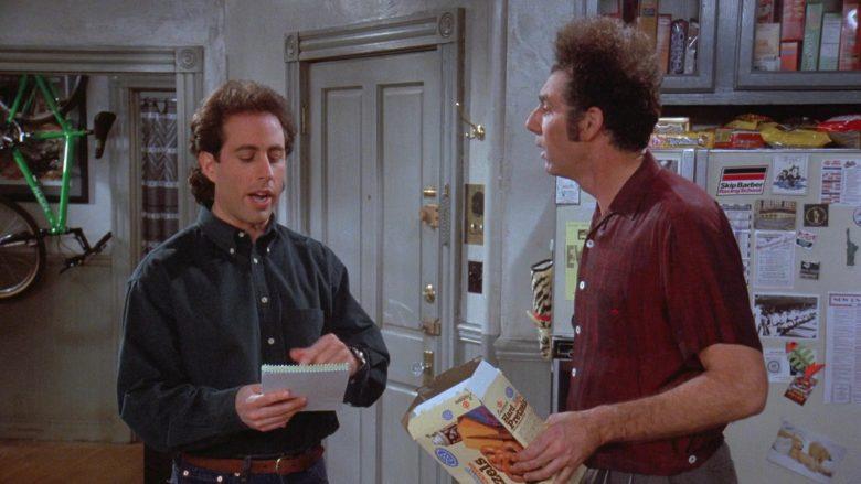 Bachman Hard Pretzels Enjoyed by Michael Richards as Cosmo Kramer in Seinfeld Season 7 Episode 13 (3)
