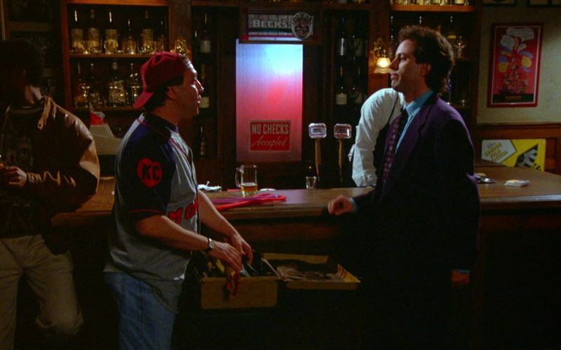 Beck's Beer Poster in Seinfeld Season 5 Episode 20 The Fire (1)