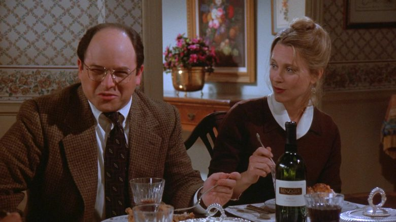 Benziger Wine Enjoyed by Jason Alexander as George Costanza and Heidi Swedberg as Susan Ross in Seinfeld Season 7 (1)