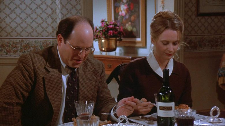Benziger Wine Enjoyed by Jason Alexander as George Costanza and Heidi Swedberg as Susan Ross in Seinfeld Season 7 (2)