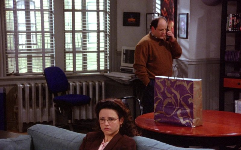 Bergdorf Goodman Store Paper Bag in Seinfeld Season 6 Episode 10 The Race