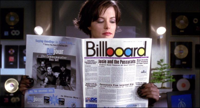 Billboard Magazine Held by Rachael Leigh Cook in Josie and the Pussycats (1)