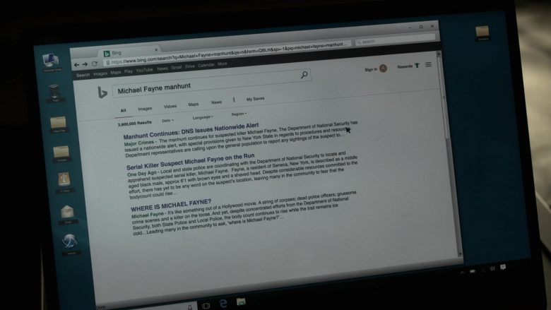 Bing WEB Search Engine in V Wars Season 1 Episode 3 (2)