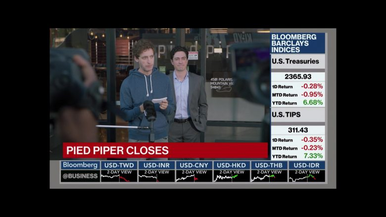 Bloomberg TV Channel in Silicon Valley Season 6 Episode 7 Exit Event (3)