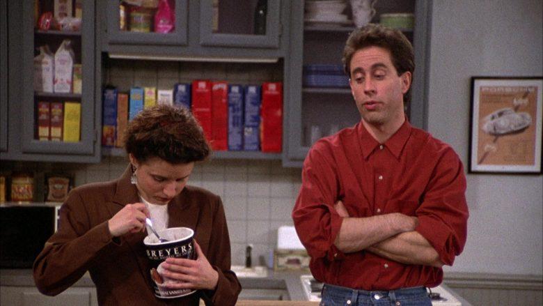 Breyers Ice Cream Enjoyed by Julia Louis-Dreyfus as Elaine Benes in Seinfeld Season 2 Episode 6 (10)