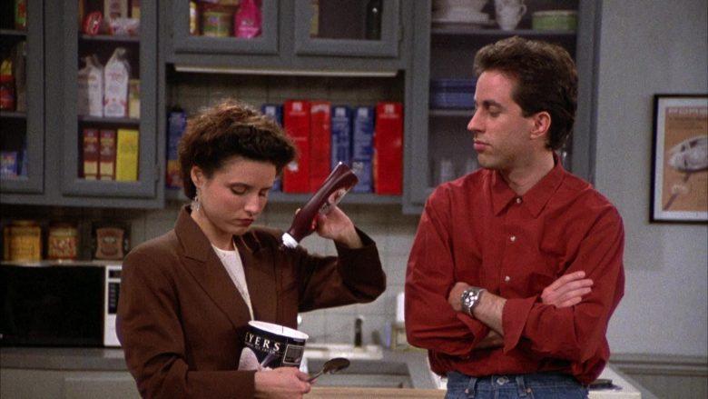 Breyers Ice Cream Enjoyed by Julia Louis-Dreyfus as Elaine Benes in Seinfeld Season 2 Episode 6 (3)