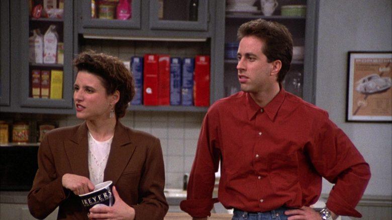 Breyers Ice Cream Enjoyed by Julia Louis-Dreyfus as Elaine Benes in Seinfeld Season 2 Episode 6 (4)