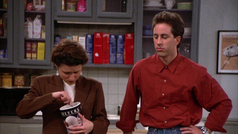 Breyers Ice Cream Enjoyed by Julia Louis-Dreyfus as Elaine Benes in Seinfeld Season 2 Episode 6 (5)