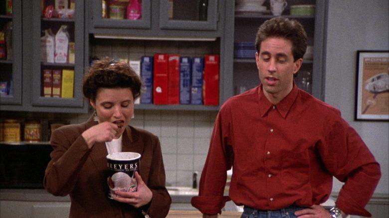 Breyers Ice Cream Enjoyed by Julia Louis-Dreyfus as Elaine Benes in Seinfeld Season 2 Episode 6 (7)