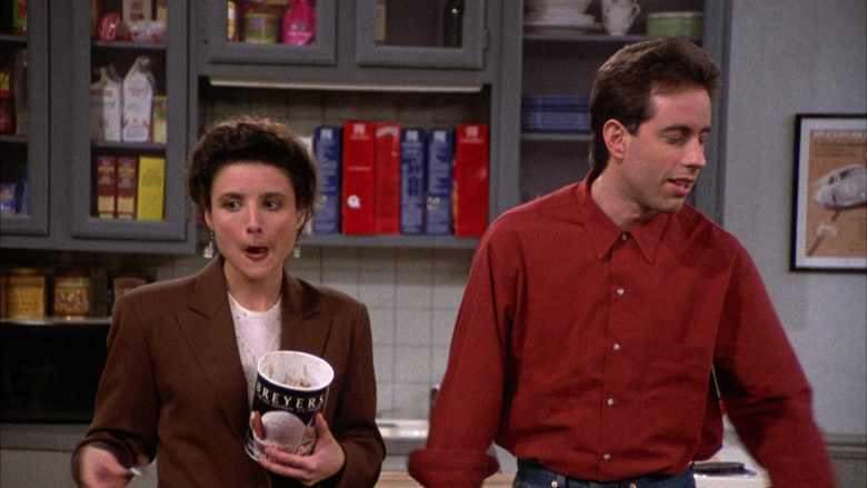 Breyers Ice Cream Enjoyed by Julia Louis-Dreyfus as Elaine Benes in Seinfeld Season 2 Episode 6 (8)