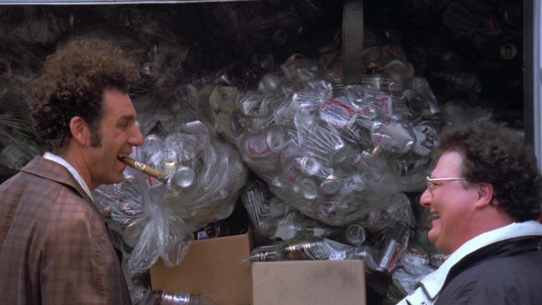 Budweiser Beer Cans in Seinfeld Season 7 Episode 21-22 The Bottle Deposit (2)
