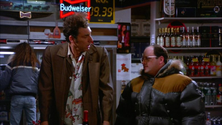 Budweiser Beer Neon Sign in Seinfeld Season 5 Episode 13 The Dinner Party (1)