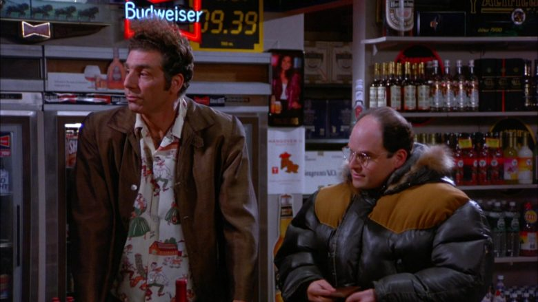 Budweiser Beer Neon Sign in Seinfeld Season 5 Episode 13 The Dinner Party (2)